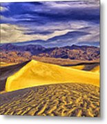 Winter Morning At Death Valley Metal Print