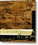 Winter Morning At The Cattle Farm Metal Print
