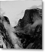 Winter Morning Half Dome And Tenaya Canyon Metal Print