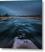 Winter Morning In Budapest Metal Print