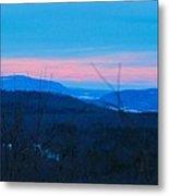 Winter Mountain Sunset Metal Print