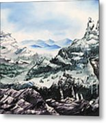 Winter Mountians Metal Print