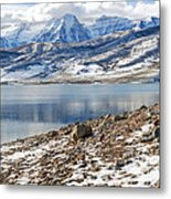 Winter Mt. Timpanogos And Deer Creek Reservoir Metal Print