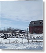 Winter Museum Metal Print