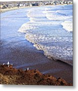 Winter Ocean In Newport Ri Metal Print