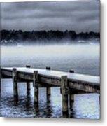 Winter On A Texas Lake Metal Print