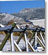 Winter On Horsetooth Mountain Metal Print