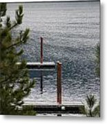Winter On Lake Coeur D' Alene Metal Print
