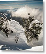 Winter On Mt. Bachelor Metal Print