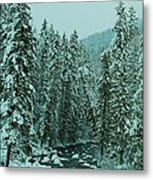 Winter On The American River Metal Print
