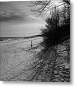 Winter On The Beach  Metal Print