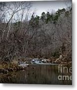 Winter On The Eno River At Fews Ford Metal Print