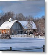 Winter On The Farm 14586 Metal Print