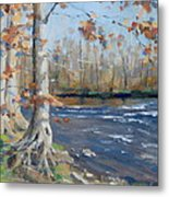 Winter On The Little Harpeth Metal Print by Sandra Harris