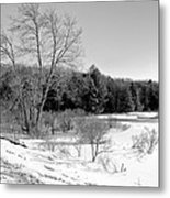 Winter On The Moose River Metal Print