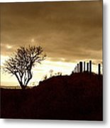 Winter On The South Downs Metal Print