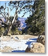 Winter On The South Rim Metal Print