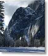 Winter On The Valley Floor Metal Print