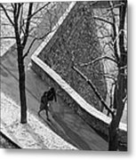 Winter On The Walls Of Bergamo Metal Print