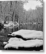 Winter On The Wissahickon Creek Metal Print