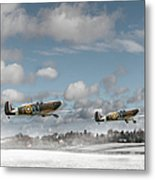 Winter Ops Spitfires Metal Print