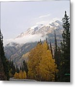 Winter Over Red Mountain Metal Print