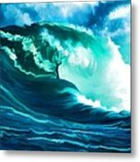 Winter Pacific Surf Metal Print