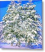 Winter Painting Metal Print