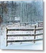 Winter Pasture Metal Print