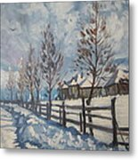 Winter Path Metal Print by Andrei Attila Mezei