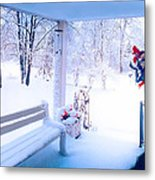 Winter Porch Metal Print