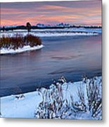 Winter Quiet And Colorful Metal Print