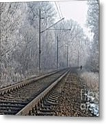 Winter Railroad Metal Print