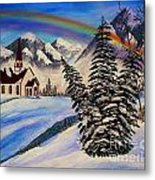 Winter Rainbow Metal Print