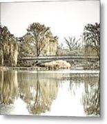 Winter Reflection Landscape Metal Print