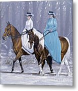 Winter Ride Metal Print by John Silver
