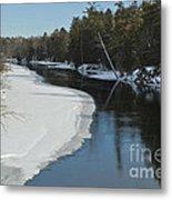Winter River I Metal Print