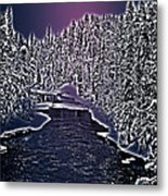 Winter River Oulanka National Park Lapland Finland  Metal Print