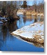 Winter River4 Metal Print by Jennifer  King