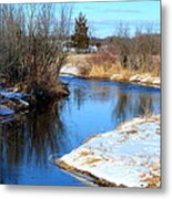 Winter River5 Metal Print by Jennifer  King