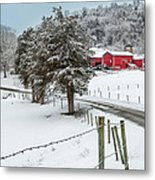 Winter Road Metal Print by Bill Wakeley