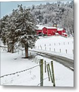Winter Road Square Metal Print by Bill Wakeley