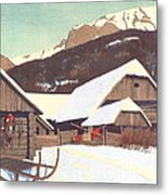 Winter Scene 1910 Metal Print
