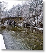 Winter Scene At Valley Green Metal Print