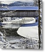 Winter Scene In Montgomery Metal Print