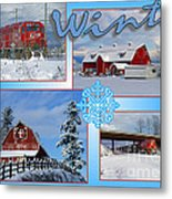 Winter Scenes  Metal Print