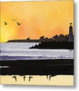 Winter Silhouette Santa Cruz Metal Print by Kerry Van Stockum