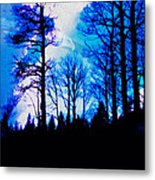 Winter Silhouettes - Ghost Eagle Metal Print