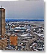 Winter Skyway Downtown Buffalo Ny Metal Print