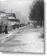 Winter Snow Storm II Metal Print